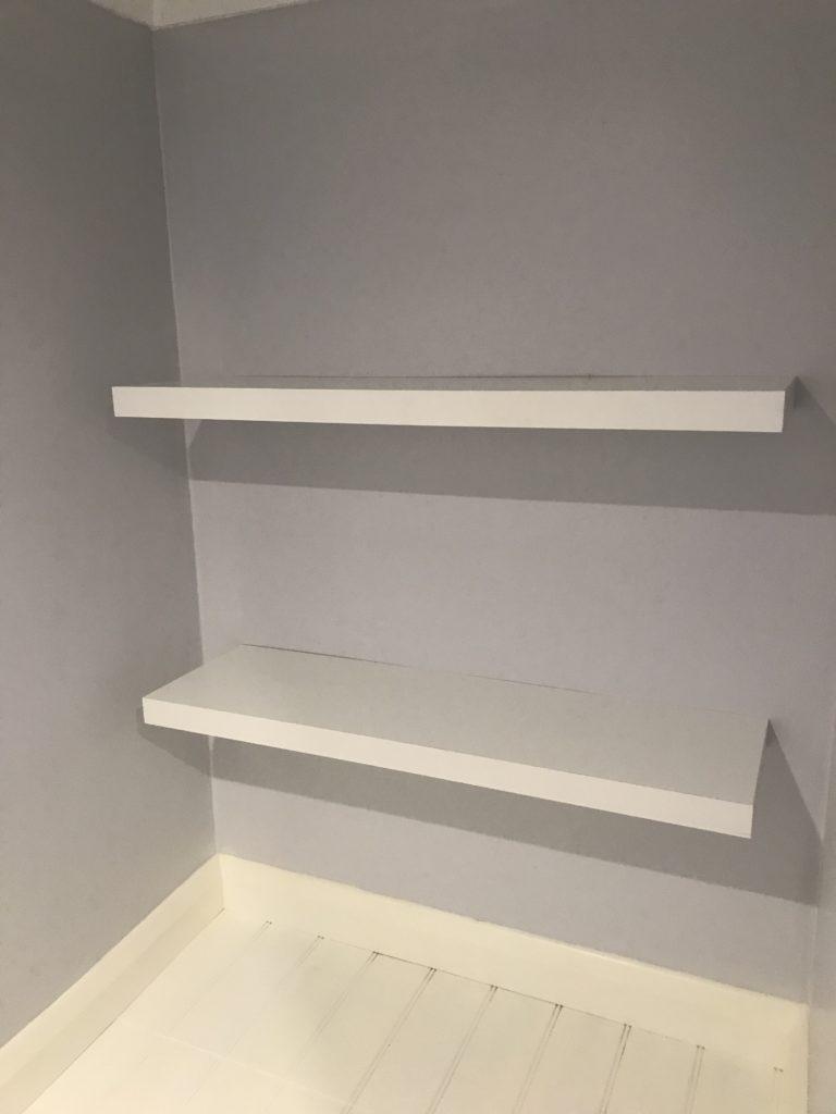 Installing Shelves